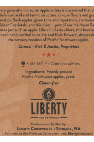 Liberty Ciderwork Heirloom Price & Reviews | Drizly