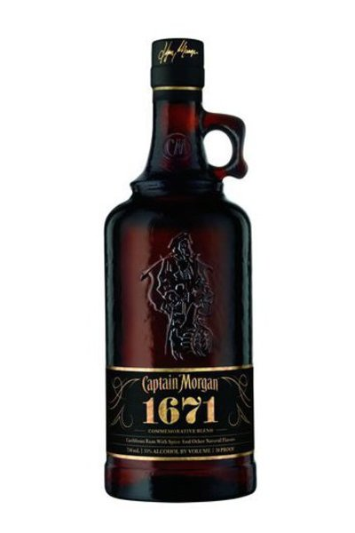 Captain morgan 1671 spiced rum buy rum online drizly for What goes good with spiced rum